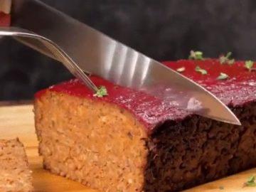Вегетарианский мясной рулет - фото