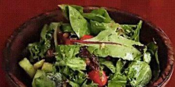 Вегетарианский салат с нутом - фото