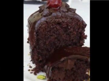 Шоколадный кекс на пару