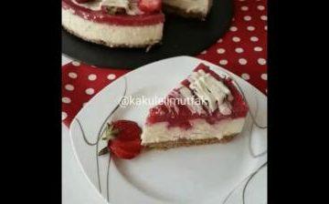 Клубнично сливочный торт